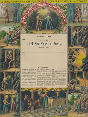 United Mine-Workers of America, c.1899