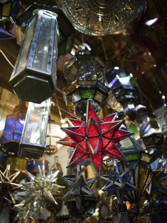 Decorative Stars, the Souqs of Marrakech, Marrakech, Morocco