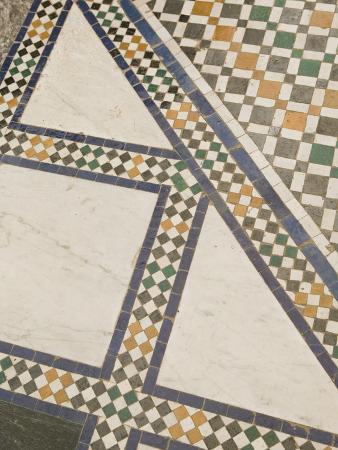 Mosaic Floor, Musee De Marrakech, Marrakech, Morocco