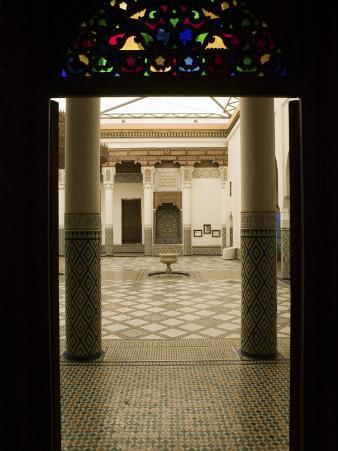 Interior Courtyard, Musee De Marrakech, Marrakech, Morocco