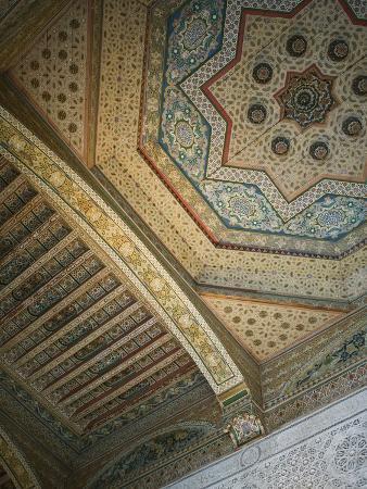 Ceiling Detail, House of the Grand Vizier, Palais De La Bahia, Marrakech, Morocco