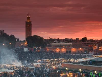 Koutoubia Mosque, Djemma El-Fna Square, Marrakech, Morocco