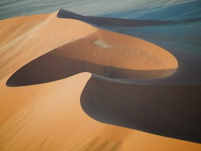 Aerial View of Sand Dunes, Great Red Sand Dunes, Soussevlei, Namibia