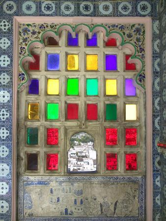 Stained Glasses in City Palace, Udaipur, Rajasthan, India