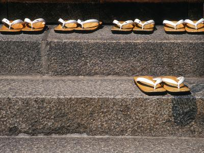 Zori Sandals on Steps of a Shrine, Kyoto, Japan