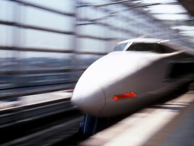 Shinkansen or Bullet Train, Osaka, Japan