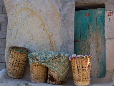 Doorway with Basket of Grapes, Village in Cappadoccia, Turkey