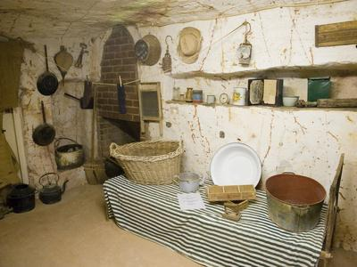 Display of Old Opal Miners Home, Coober Pedy, Outback, Australia