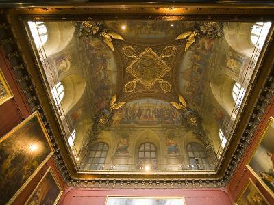 Ceiling Detail in a Room of the Palace of Versailles, Paris, France