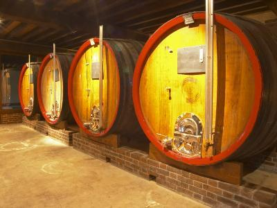 Wine Cellar and Oak Casks, Champagne Jacquesson in Dizy, Vallee De La Marne, Ardennes, France
