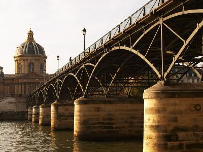 Bridge Pont Des Arts Over the Seine River, Academie Francaise, Paris, France