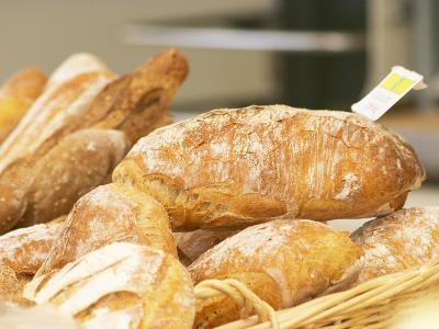 Loaf of Bread in Bakery, Le Brusc, Var, Cote d'Azur, France