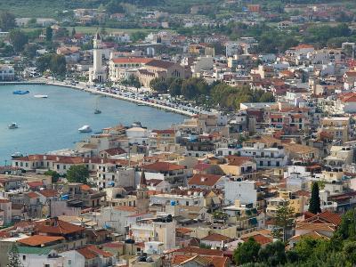 Morning Town View from Venetian Kastro Castle, Zakynthos, Ionian Islands, Greece