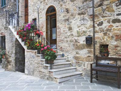 Flower-Lined Stairway, Petroio, Italy