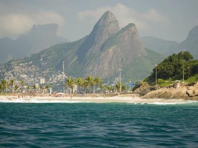 Praia De Diabo, Arpoador Near Copacabana Beach, Brothers Peaks Behind, Rio De Janiero, Brazil