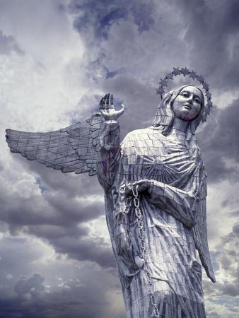 Virgin of Quito Statue on Panecillo Hill Overlooking Quito, Ecuador