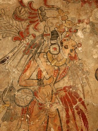 Maya Mural, San Bartolo, Guatemala