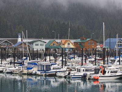 Harbor in the Coastal Town of Seward, Alaska, USA