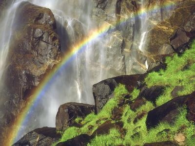 Rainbow at the Base of Bridal Veil Falls, Yosemite National Park, California, USA