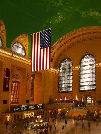 Interior View of Grand Central Station, New York, USA