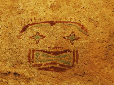 Detail of Pictograph or Rock Painting, the Starry-Eyed Man, Hueco Tanks State Historic Park