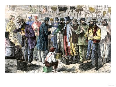 Street-Sweepers Answering a Roll-Call, New York City, c.1860