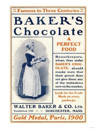 Ad for Baker's Chocolate, c.1900
