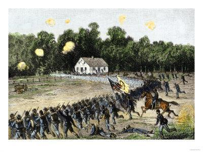 Irwin's Brigade Charging the Confederate Position at the Dunker Church, Battle of Antietam, c.1862