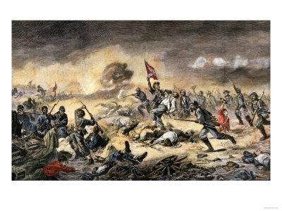 Confederate Charge against African-American Union Soldiers at the Battle of the Crater