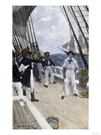 Impressment of an American Sailor by a British Naval Officer