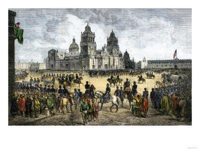 General Winfield Scott Leads U.S. Forces Into Mexico City to End the U.S.-Mexican War, c.1847