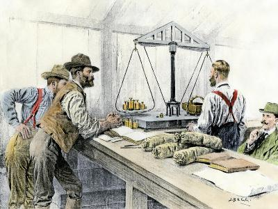 Klondike Miners Weighing Their Gold in a Dawson City Bank, c.1898