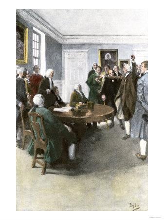 Samuel Adams Demanding British Army Withdrawal after the Boston Massacre, c.1770