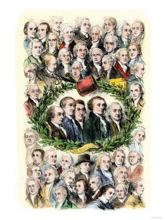 Portraits of the Signers of the Declaration of Independence, Philadelphia, c.1776