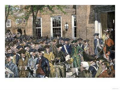 Congress Leaving Independence Hall to the First Reading of the Declaration of Independence, c.1776