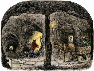Tunnel in a California Mine, c.1850