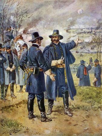 General Burnside Ordering Hooker to Charge the Heights at Fredericksburg, Virginia