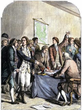 Delegates Signing the Declaration of American Independence, July 4, 1776