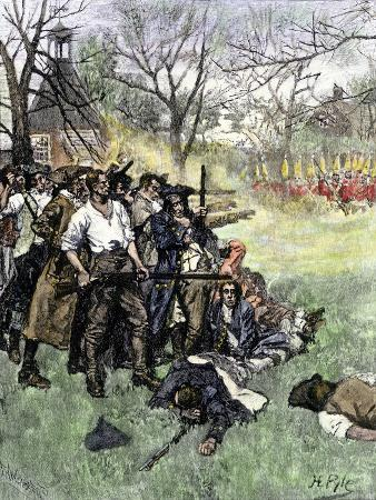 Minutemen at Lexington Green, April 1775