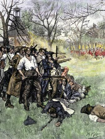 Minutemen at Lexington Green, April 1775