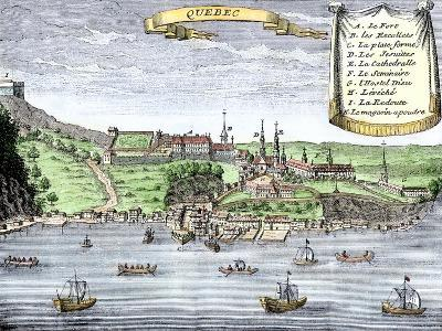 Quebec City and the Saint Lawrence River, c.1722