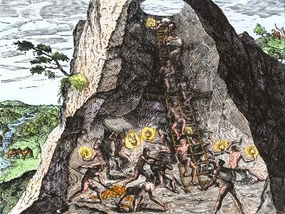 Natives Working in the Spanish Mines of Mexico