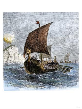 Danish Viking Ship, Raven, at Sea