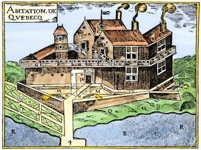 Champlain's Quebec Fort, c.1613