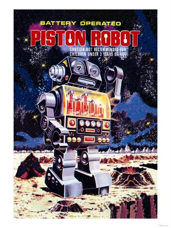 Battery Operated Piston Robot