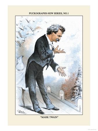 Puck Magazine: Puckographs, Mark Twain