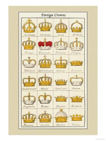 Foreign Crowns: Bohemia, Sardinia