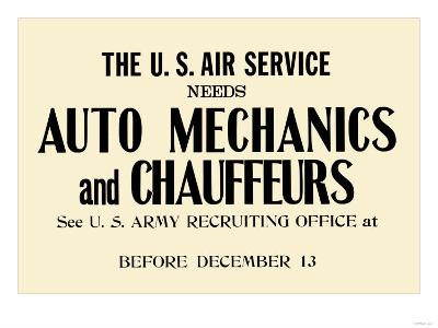 Auto Mechanics and Chauffeurs
