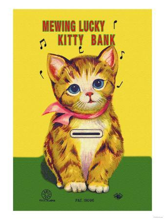 Mewing Lucky Kitty Bank