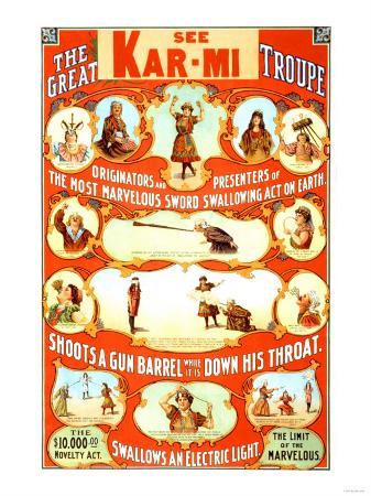 Kar-Mi and the Great Victorina Troupe Originators